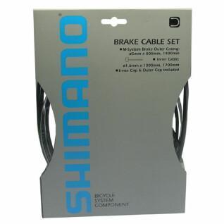 Remkabel en mantelset voor voor- en achterwiel Shimano