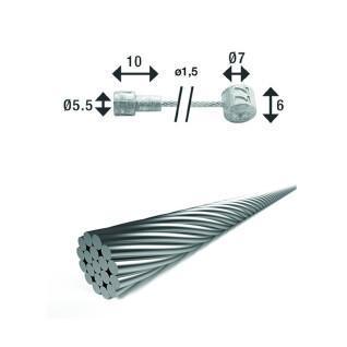 Remkabel met dubbele aansluiting XLC br-x86 2250 mm