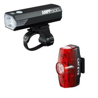 Cateye Ampp 500/Rapid Mini voor- en achterlichten