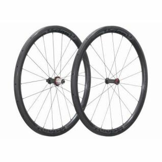 Paar buisvormige wielen Vision Metron 40 campas v14